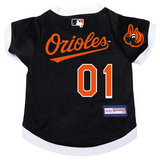 Baltimore Orioles Dog Pet Premium Baseball Jersey