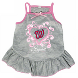 Washington Nationals Dog Pet Pink Too Cute Squad Jersey Tee Dress