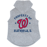 Washington Nationals Dog Pet Premium Button Up Property Of Hoodie Sweatshirt