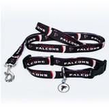 Atlanta Falcons Dog 3pc Pet Set Leash Collar ID Tag