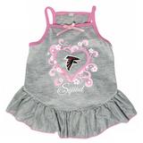 Atlanta Falcons Dog Pet Pink Too Cute Squad Jersey Tee Dress