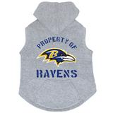 Baltimore Ravens Dog Pet Premium Button Up Property Of Hoodie Sweatshirt