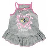 Baltimore Ravens Dog Pet Pink Too Cute Squad Jersey Tee Dress