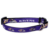 Baltimore Ravens Dog Pet Premium Adjustable Nylon Collar
