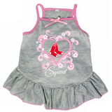 Boston Red Sox Dog Pet Pink Too Cute Squad Jersey Tee Dress