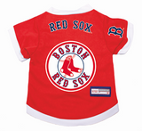 Boston Red Sox Dog Pet Premium Baseball Jersey Alternate