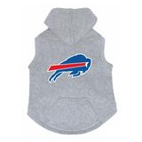 Buffalo Bills Dog Pet Premium Button Up Embroidered Hoodie Sweatshirt