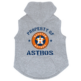Houston Astros Dog Pet Premium Button Up Property Of Hoodie Sweatshirt