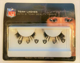 Oakland Raiders Team Color Eyelash Extensions w/ Logo Beauty Marks