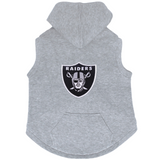 Oakland Raiders Dog Pet Premium Button Up Embroidered Hoodie Sweatshirt