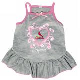 St. Louis Cardinals Dog Pet Pink Too Cute Squad Jersey Tee Dress