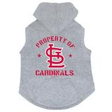 St. Louis Cardinals Dog Pet Premium Button Up Property Of Hoodie Sweatshirt