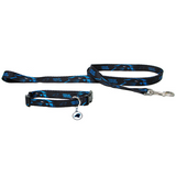 Carolina Panthers Dog 3pc Pet Set Leash Collar ID Tag
