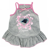 Carolina Panthers Dog Pet Pink Too Cute Squad Jersey Tee Dress