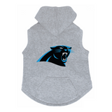 Carolina Panthers Dog Pet Premium Button Up Embroidered Hoodie Sweatshirt