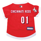 Cincinnati Reds Dog Pet Premium Baseball Jersey