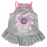 Chicago Cubs Dog Pet Pink Too Cute Squad Jersey Tee Dress