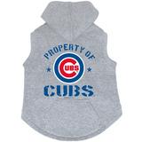 Chicago Cubs Dog Pet Premium Button Up Property Of Hoodie Sweatshirt