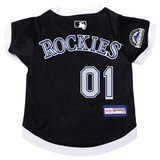 Colorado Rockies Dog Pet Premium Baseball Jersey