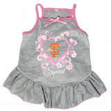 San Francisco Giants Dog Pet Pink Too Cute Squad Jersey Tee Dress