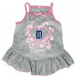 Detroit Tigers Dog Pet Pink Too Cute Squad Jersey Tee Dress