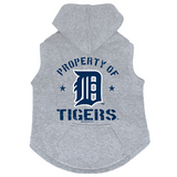 Detroit Tigers Dog Pet Premium Button Up Property Of Hoodie Sweatshirt
