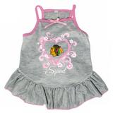 Chicago Blackhawks Dog Pet Pink Too Cute Squad Jersey Tee Dress
