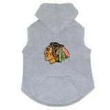 Chicago Blackhawks Dog Pet Premium Button Up Embroidered Hoodie Sweatshirt