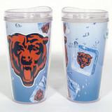 Chicago Bears Ice Cube Design 16oz Travel Tumbler