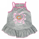 Chicago Bears Dog Pet Pink Too Cute Squad Jersey Tee Dress