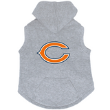 Chicago Bears Dog Pet Premium Button Up Embroidered Hoodie Sweatshirt