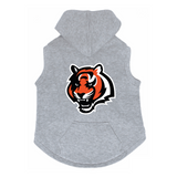 Cincinnati Bengals Dog Pet Premium Button Up Embroidered Hoodie Sweatshirt