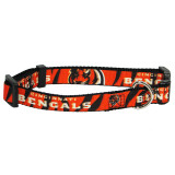 Cincinnati Bengals Dog Pet Premium Adjustable Nylon Collar