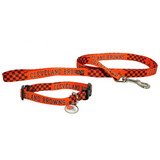 Cleveland Browns Dog 3pc Pet Set Leash Collar ID Tag