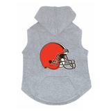 Cleveland Browns Dog Pet Premium Button Up Embroidered Hoodie Sweatshirt