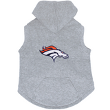Denver Broncos Dog Pet Premium Button Up Embroidered Hoodie Sweatshirt