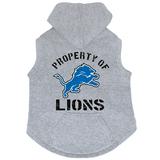 Detroit Lions Dog Pet Premium Button Up Property Of Hoodie Sweatshirt