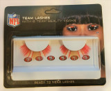 San Francisco 49ers Team Color Eyelash Extensions w/ Logo Beauty Marks
