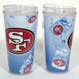 San Francisco 49ers Ice Cube Design 16oz Travel Tumbler