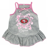 San Francisco 49ers Dog Pet Pink Too Cute Squad Jersey Tee Dress