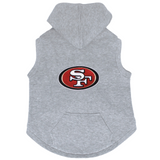 San Francisco 49ers Dog Pet Premium Button Up Embroidered Hoodie Sweatshirt