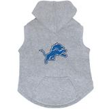 Detroit Lions Dog Pet Premium Button Up Embroidered Hoodie Sweatshirt