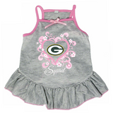 Green Bay Packers Dog Pet Pink Too Cute Squad Jersey Tee Dress