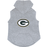 Green Bay Packers Dog Pet Premium Button Up Embroidered Hoodie Sweatshirt