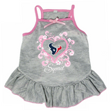 Houston Texans Dog Pet Pink Too Cute Squad Jersey Tee Dress