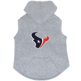 Houston Texans Dog Pet Premium Button Up Embroidered Hoodie Sweatshirt