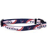Houston Texans Dog Pet Premium Adjustable Nylon Collar