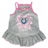 Indianapolis Colts Dog Pet Pink Too Cute Squad Jersey Tee Dress