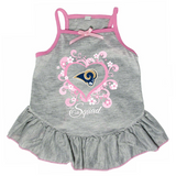 Los Angeles Rams Dog Pet Pink Too Cute Squad Jersey Tee Dress