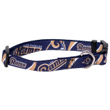 Los Angeles Rams Dog Pet Premium Adjustable Nylon Collar
